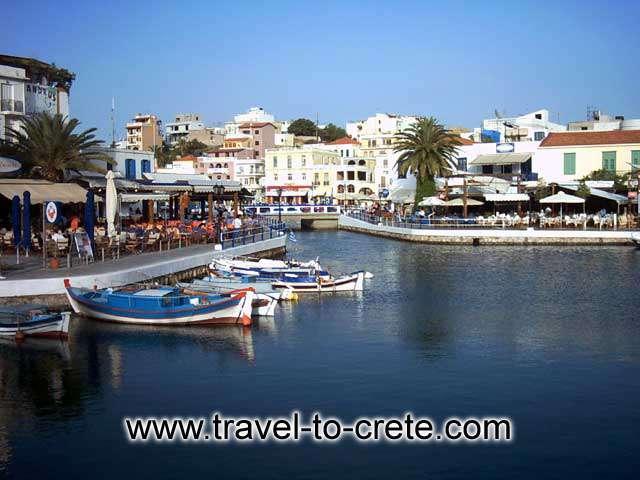 Agios Nikolaos - Boats at sunset