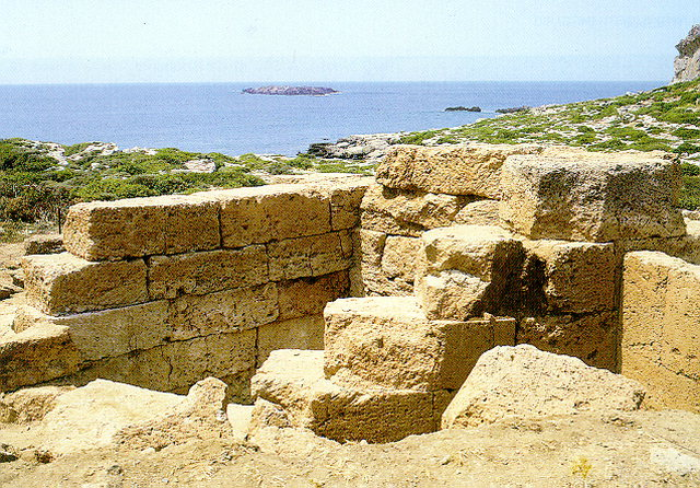 PHALASARNA - Hellenistic harbour with defensive towers, today located on the coast.