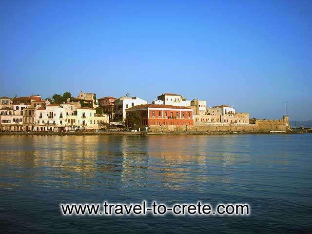 HANIA PORT - The port of Hania at sunset