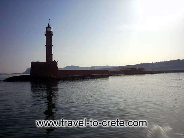 CHANIA TOWN - The lighthourse at the entrance of Chania port
