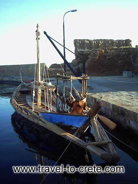 CHANIA TOWN - Aigialida is an authentic reconstruction of the minoan ship. This is how Cretans built their civilization 3500 years ago.