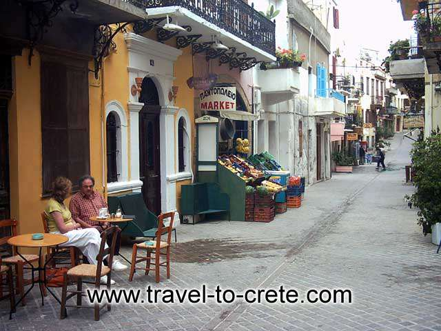 Have a coffee at a traditional Greek kafenio in the old town CRETE PHOTO GALLERY - CHANIA TOWN