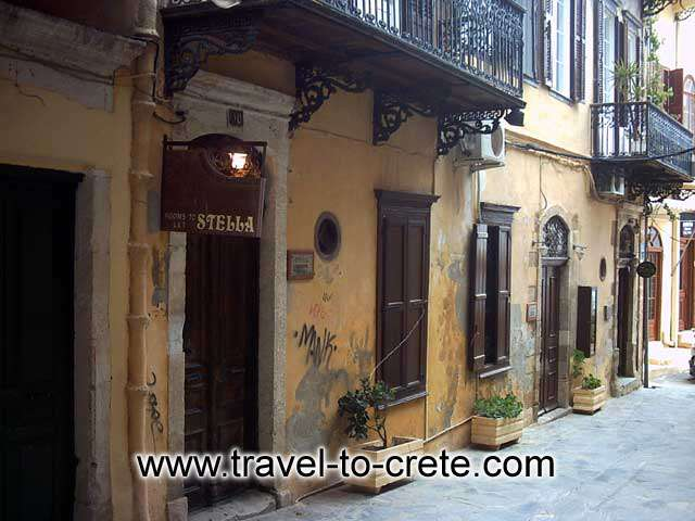 CHANIA TOWN - Typical building in Chania old town