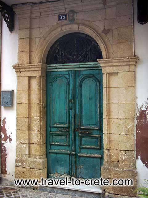 CHANIA TOWN - A house door in Chania old town
