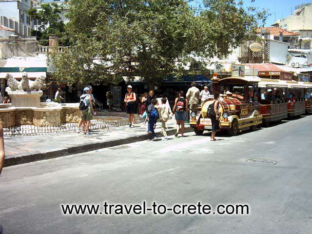 HERAKLION - The small train that makes the tour of the city