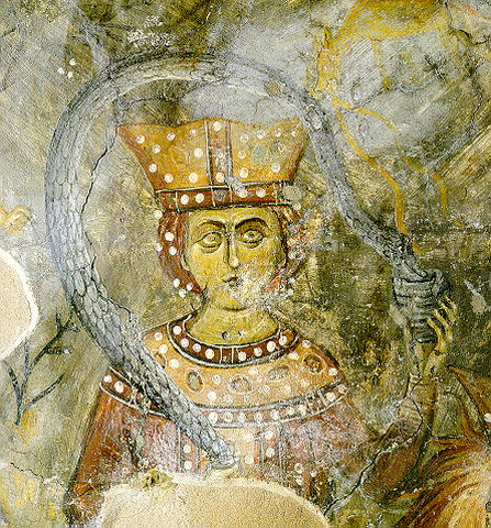 ICONOGRAPHY - The side aisles are posterior; the northern is dedicated to St Antonius and the southern to St Anne: both of them were decorated with frescoes in the 14th century. The church's iconographic programs are extremely interesting, starting with the archaic st