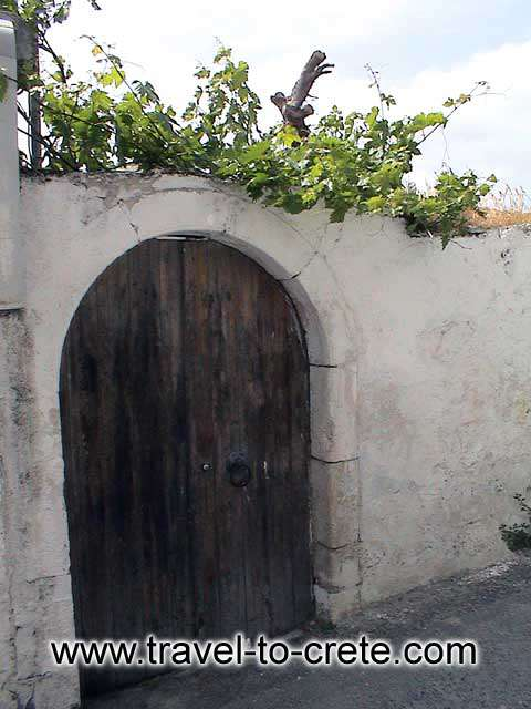 MYRTIA - A house door in Myrtia