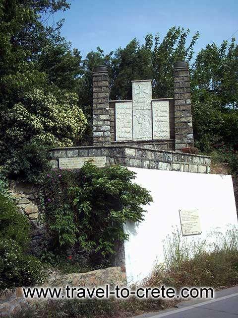 PALEOHORA - A monument on the way to Paleohora
