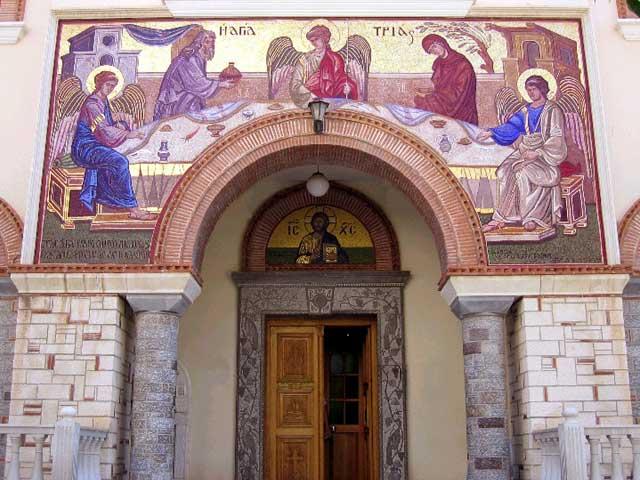AGHIA TRIADA - Orthodox church in Agios Nikolas by Peter Schultz