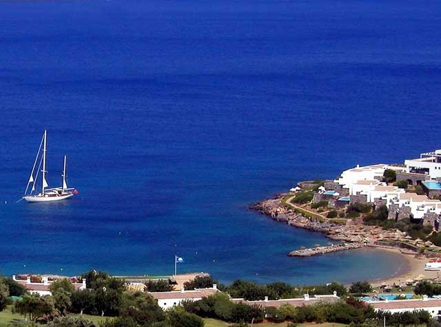 Sailboat - Sailboat at the bay of Elounda in Crete
