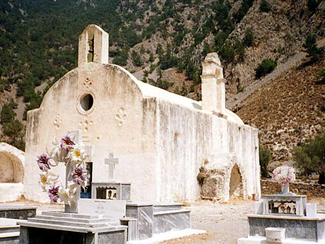 Church in Samaria Gorge - This is a church in the Gorge of Samalia on the Greek island of Crete.