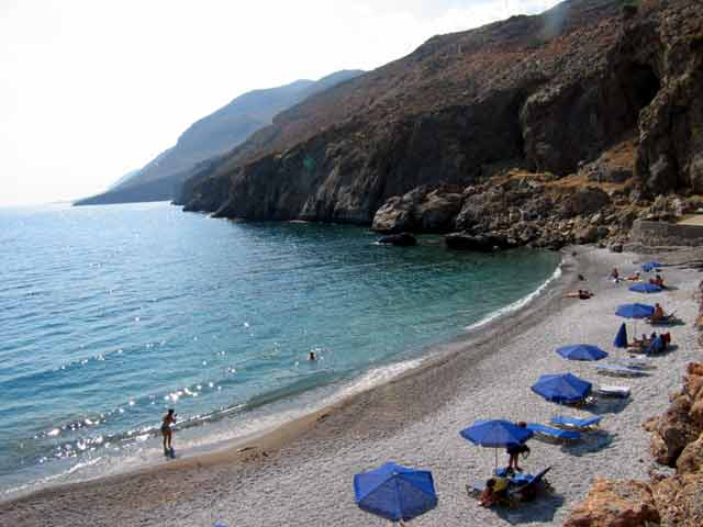 THE BEACH OF  SFAKIA HORA -