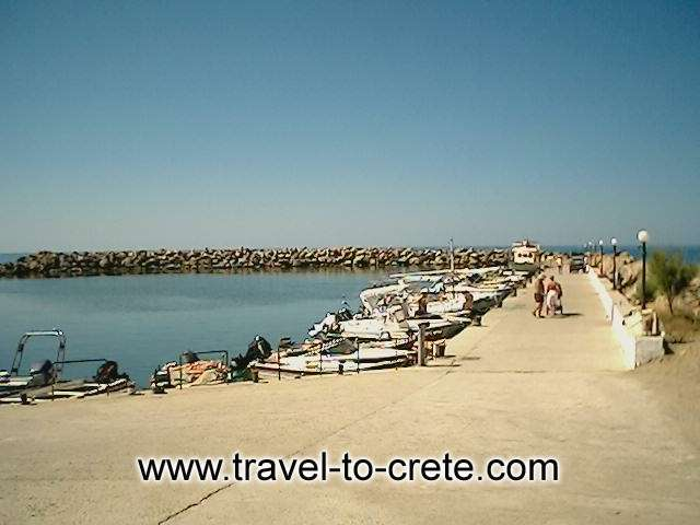Platanias small fishing harbour -