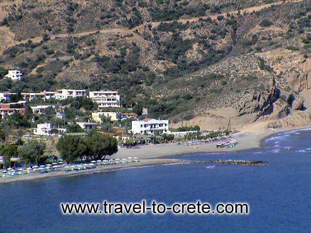 Agia Galini - The beach view from above