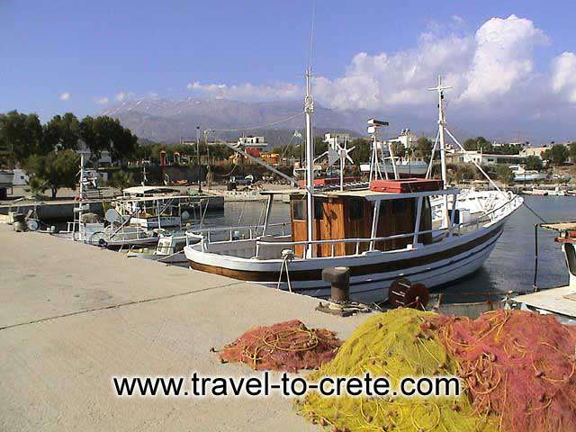 Agia Galini - Fishing boat and nets
