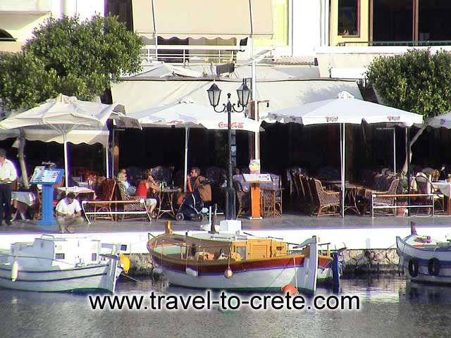 Agios Nikolaos - Fishing boats and coffee shops