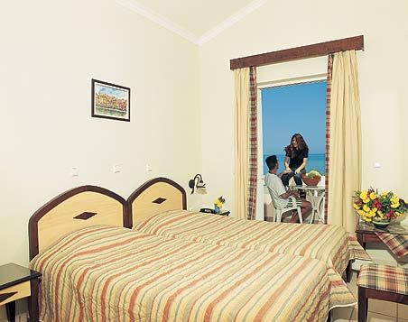 The double room with sea view balcony of Caretta beach Hotel CLICK TO ENLARGE