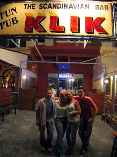 The entrance of Klik Disco -  The Scandinavian Bar CLICK TO ENLARGE