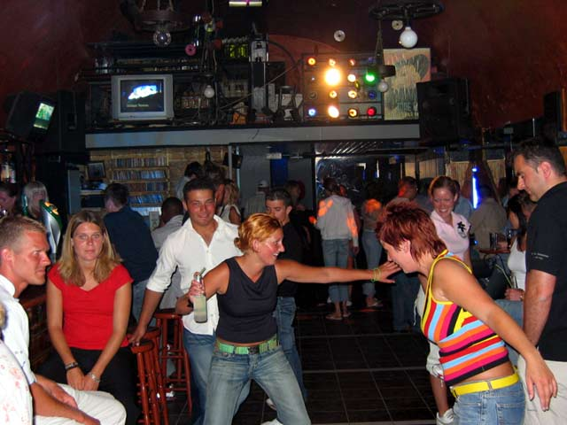 When the spirit is high in Klik Disco -  The Scandinavian Bar in the old port of Hania CLICK TO ENLARGE