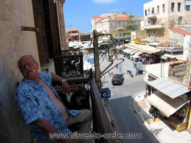 The view of the balcony of Kydonia Apartments CLICK TO ENLARGE