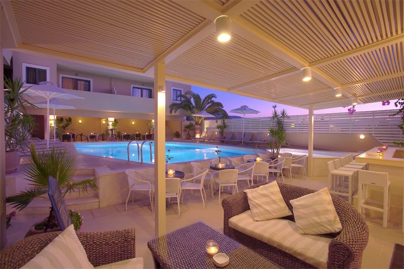 The swimming pool of La Stella Hotel Apartments and suites CLICK TO ENLARGE
