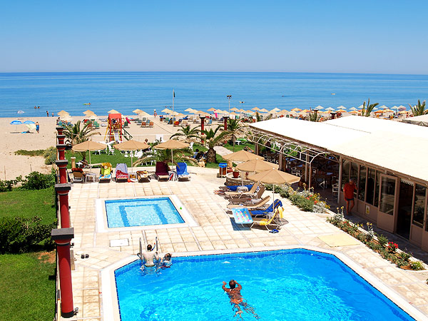 The swimming pool of Odyssia Hotel is next to the beach CLICK TO ENLARGE