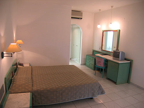 The double room and the balcony of Eliros Hotel CLICK TO ENLARGE