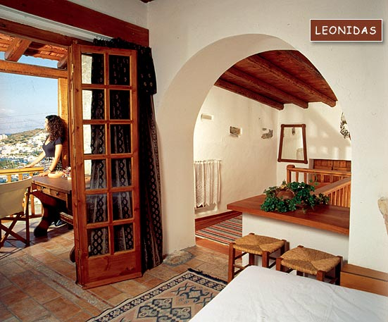 Inside view of Leonidas Villa  of the traditional Homes of Crete CLICK TO ENLARGE