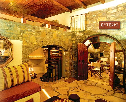 Inside view of Efterpi Villa of the traditional Homes of Crete CLICK TO ENLARGE