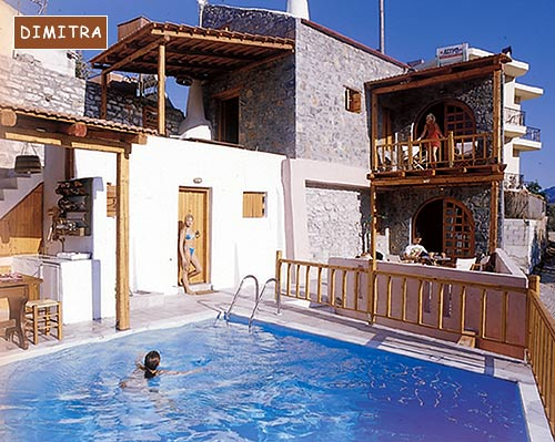 Outside view of Dimitra Villa of the traditional Homes of Crete CLICK TO ENLARGE