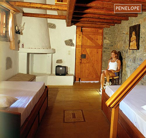 Inside view of Penelope Villa of the traditional Homes of Crete CLICK TO ENLARGE