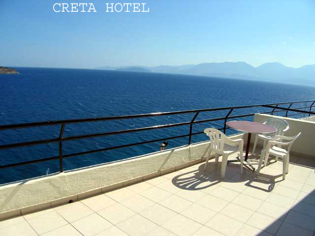 The balcony of an apartment of Creta hotel with sea view CLICK TO ENLARGE