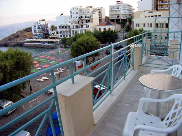 The balcony of Delta Hotel is viewing the kitroplatia beach and the sea CLICK TO ENLARGE