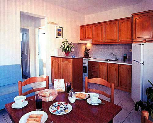 The kitchen of the apartment of Paradisio Hotel CLICK TO ENLARGE