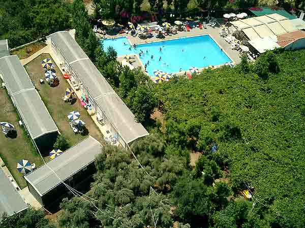 Aerial photo of Camping Hania - Ag. Apostoli - Crete CLICK TO ENLARGE