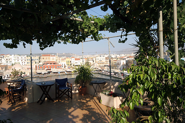 From the veranda of Amphora Hotel you can enjoy the fantastic view CLICK TO ENLARGE