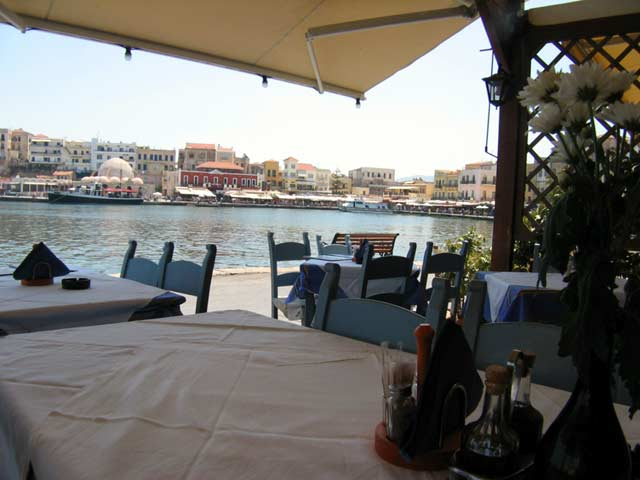 You can enjoy your food at Amphora restaurant next to the see CLICK TO ENLARGE