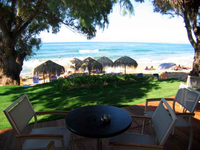 From Diamonds Beach Bar - Cafe you can enjoy the fantastic view of the exotic beach CLICK TO ENLARGE