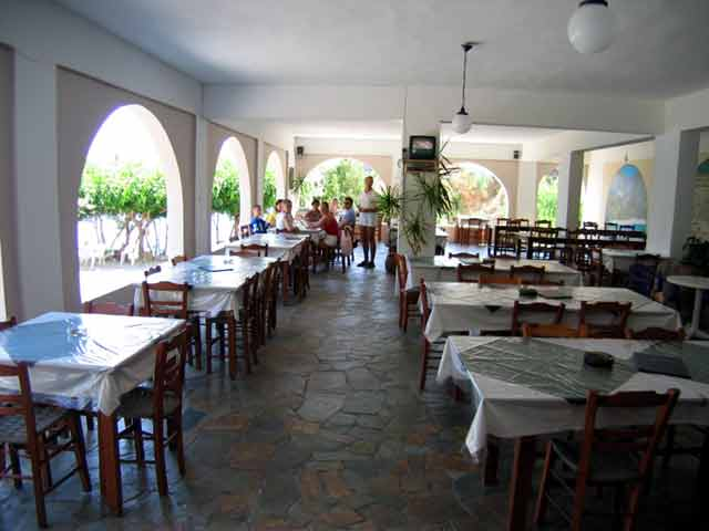 The restaurant of Iligas Pension CLICK TO ENLARGE