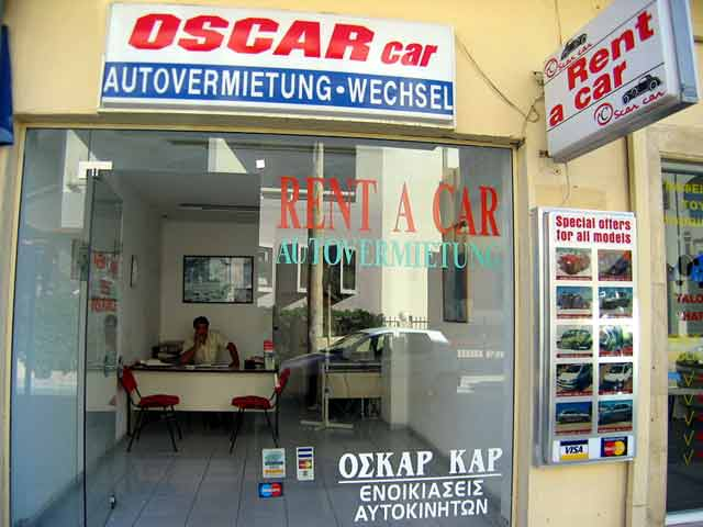 The Office of Oscar Rent a Car in Rethymno CLICK TO ENLARGE