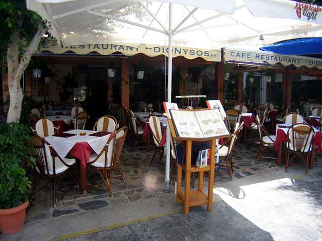 Outside view of Dionysos Restaurant CLICK TO ENLARGE