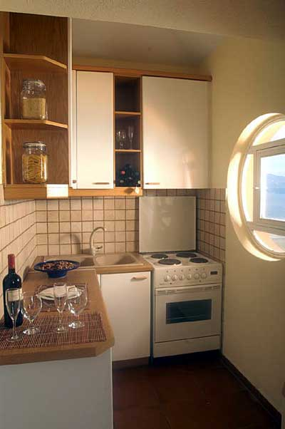 The kitchen of the apartment of Nine Muses CLICK TO ENLARGE