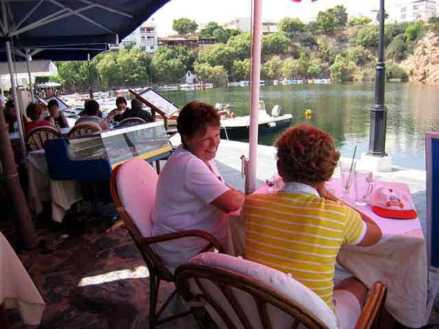 From the Pacifae Restaurant you can enjoy the meal and the wonderful view of the graphic Lake CLICK TO ENLARGE