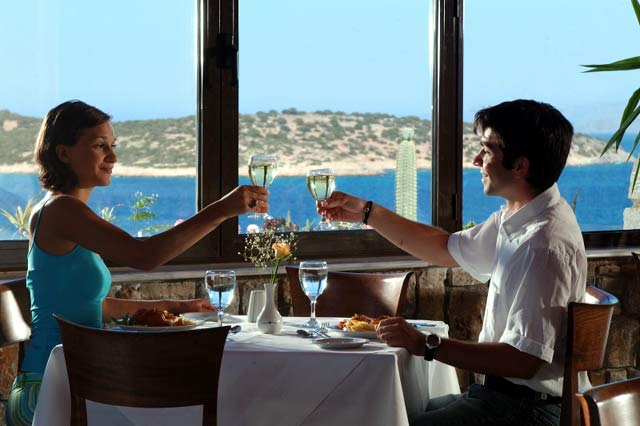 In the Restaurant of Hermes Hotel you can enjoy your meal and also the wonderful view CLICK TO ENLARGE