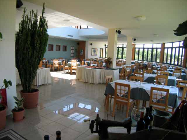 The restaurant of Silver Beach Hotel CLICK TO ENLARGE