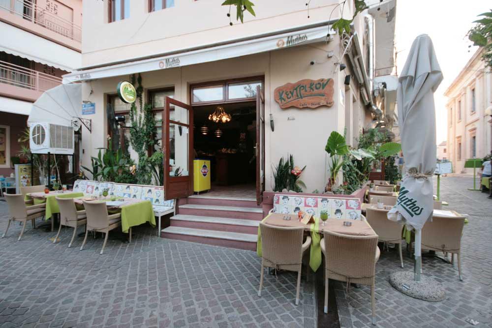 Kentrikon Cafe at Mitropoleos square - Old Town - Hania - Crete CLICK TO ENLARGE