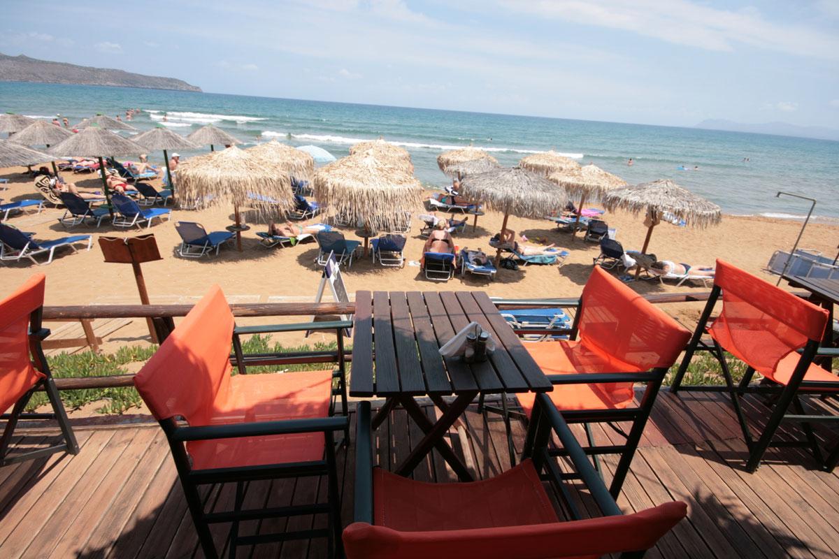Photo of Ag. Marina beach infront of Italiana Restaurant - Pizza CLICK TO ENLARGE