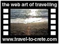 Travel to Crete Video Gallery  - FAISTOS MATALA - A trip through Psiloritis drive us to Phaistos and Kokkinos Vraxos (red rock) a small fishing village, Agios Pavlos (Saint Paul) byzantine church, cemetery and then the ideal sunset at Matala.  -  A video with duration 1:14 min and a size of 1.096 KB